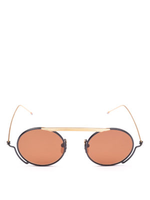 THOM BROWNE: occhiali da sole online - Occhiali da sole rotondi senza ponte