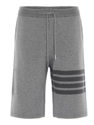 THOM BROWNE: shorts - 4 Bar bermuda shorts in grey