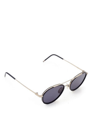 Thom Browne: sunglasses - Aviator sunglasses