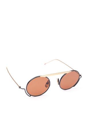 THOM BROWNE: occhiali da sole - Occhiali da sole rotondi senza ponte