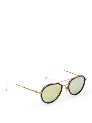 Thom Browne: sunglasses - Double bridge sunglasses