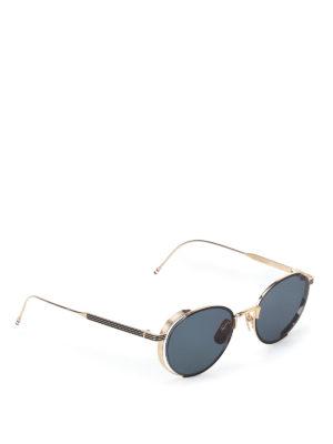 Thom Browne: sunglasses - Gold-tone metal sunglasses