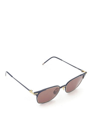 Thom Browne: sunglasses - Metal and gold sunglasses