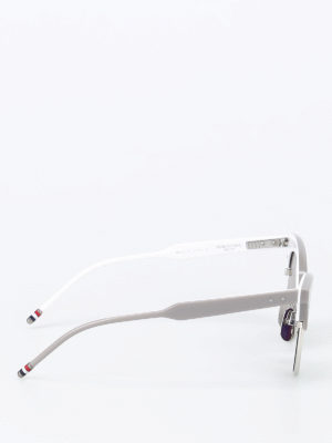 Thom Browne: sunglasses online - Acetate mirrored sunglasses