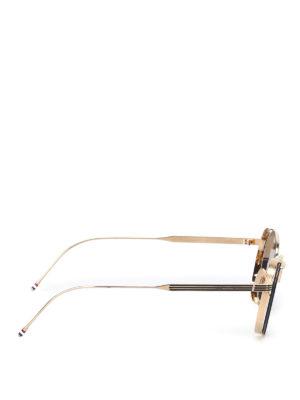 Thom Browne: sunglasses online - Gold-tone metal sunglasses