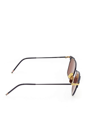 Thom Browne: sunglasses online - Metal and gold sunglasses