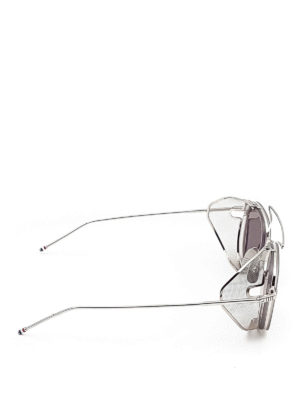 Thom Browne: sunglasses online - Side mesh shield sunglasses
