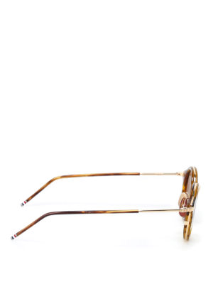 Thom Browne: sunglasses online - Tortoise and gold-tone sunglasses
