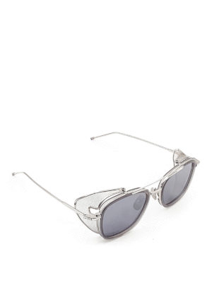 Thom Browne: sunglasses - Side mesh shield sunglasses