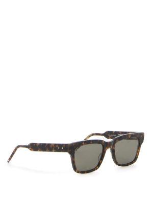 THOM BROWNE: sunglasses - Tortoiseshell sunglasses