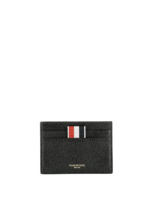 Thom Browne: wallets & purses - Black leather card holder