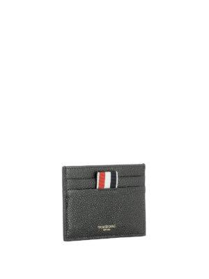 Thom Browne: wallets & purses online - Black leather card holder