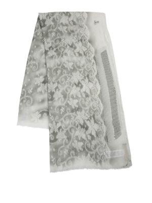 Tiziano Santandrea: Stoles & Shawls online - Floral patterned cashmere stole