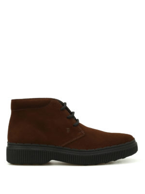 Tod'S: ankle boots - 39A nubuck lace-up ankle boots