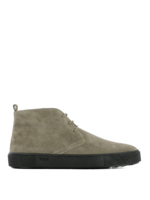 Tod'S: ankle boots - Beige suede desert boots