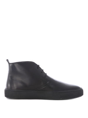 Tod'S: ankle boots - Black leather laced-up desert boots