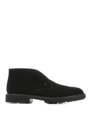 Tod'S: ankle boots - Black suede desert boots