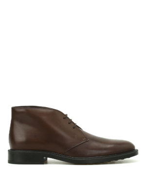 Tod'S: ankle boots - Brown leather desert boots