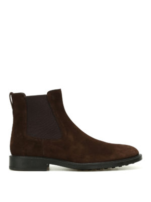 Tod'S: ankle boots - Brown suede ankle boots