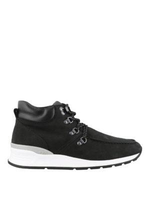 TOD'S: tronchetti - Polacchini modello scarponcini in nappa nera