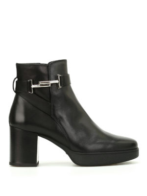 Tod'S: ankle boots - Double T leather ankle boots