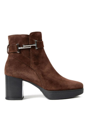 Tod'S: ankle boots - Double T suede ankle boots