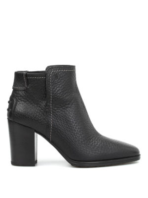 Tod'S: ankle boots - Hammered leather ankle boots
