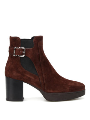 Tod'S: ankle boots - Heeled suede ankle boots