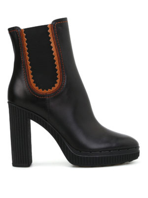 Tod'S: ankle boots - High heeled black leather booties