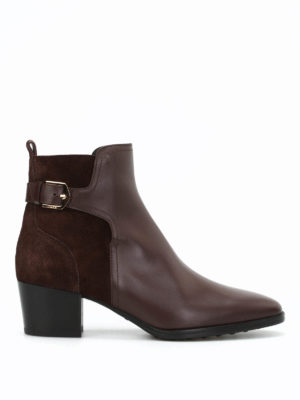 Tod'S: ankle boots - Leather and suede ankle boots