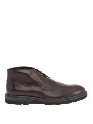 Tod'S: ankle boots - Leather classic lace-up booties