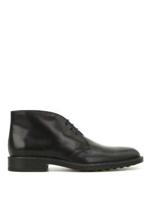 Tod'S: ankle boots - Leather desert boots