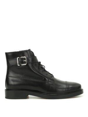 Tod'S: ankle boots - Leather lace-up ankle boots