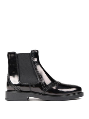 Tod'S: ankle boots - Leather slip-on ankle boots