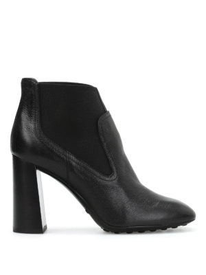 Tod'S: ankle boots - Leather slip-on booties