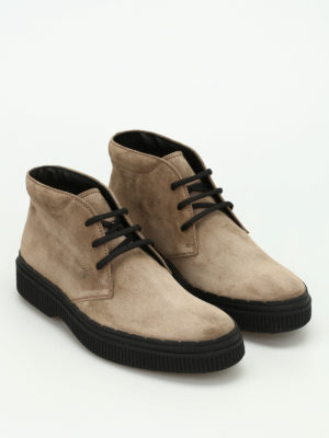 Tod'S: ankle boots online - 39A nubuck lace-up ankle boots