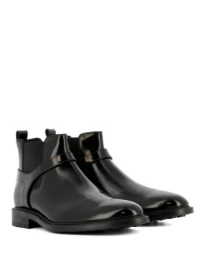 Tod'S: ankle boots online - Black brushed leather ankle boots