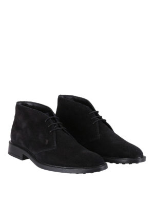 Tod'S: ankle boots online - Black suede desert boots