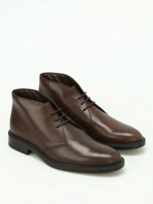 Tod'S: ankle boots online - Brown leather desert boots