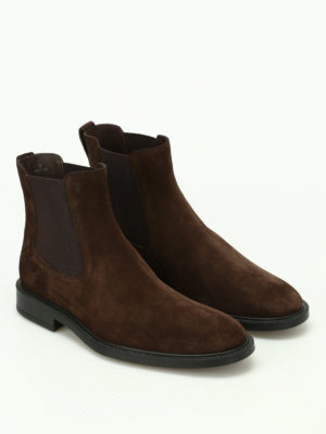 Tod'S: ankle boots online - Brown suede ankle boots