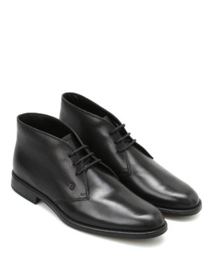 Tod'S: ankle boots online - Brushed leather lace-up booties