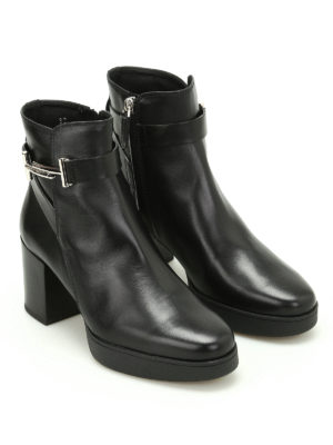 Tod'S: ankle boots online - Double T leather ankle boots