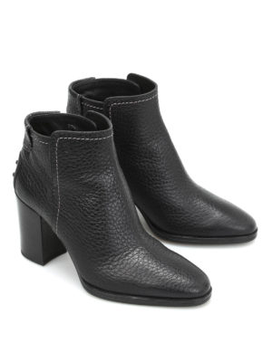 Tod'S: ankle boots online - Hammered leather ankle boots