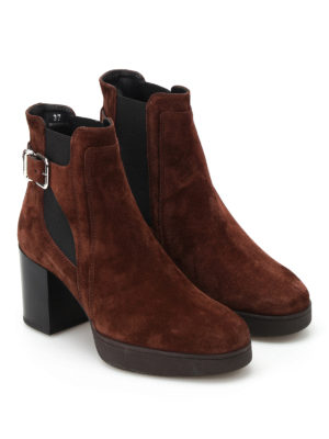 Tod'S: ankle boots online - Heeled suede ankle boots
