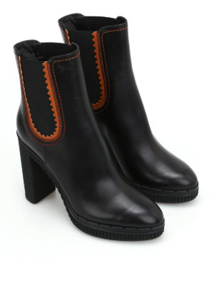 Tod'S: ankle boots online - High heeled black leather booties