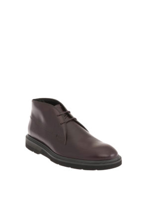 Tod'S: ankle boots online - Leather classic lace-up booties