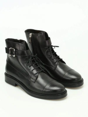 Tod'S: ankle boots online - Leather lace-up ankle boots
