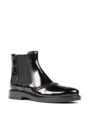 Tod'S: ankle boots online - Leather slip-on ankle boots