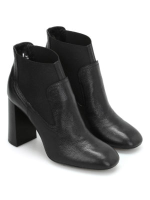 Tod'S: ankle boots online - Leather slip-on booties