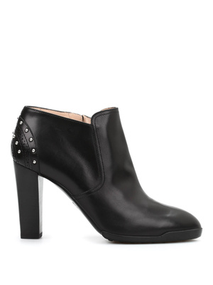 Tod'S: ankle boots online - Studded leather ankle boots